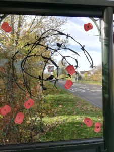 Decoration in bus shelter