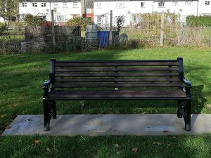 New bench installed on Local Green Space by The Crescent