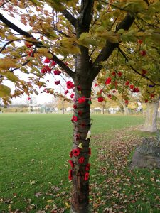 Decoration on Recreation Ground tree