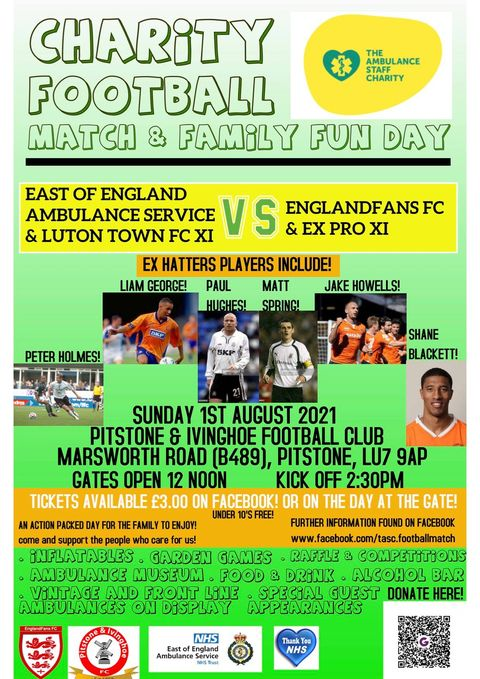 Charity football match & family fun day – Ivinghoe & Pitstone Village  Website